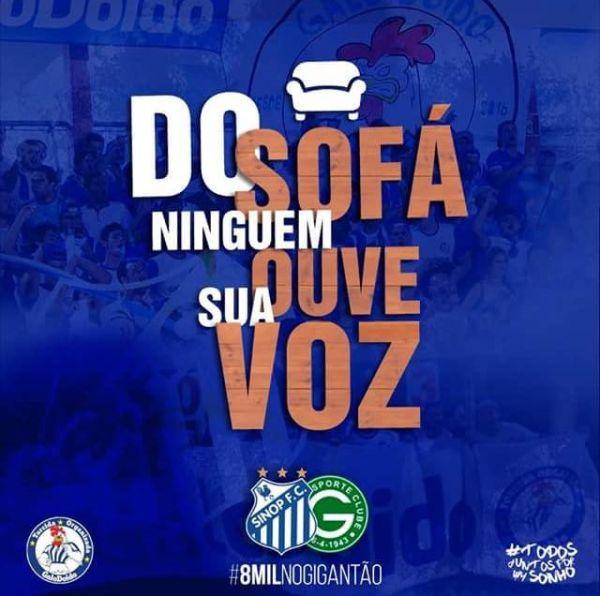 Sinop espera 3.500 torcedores contra o Goiás